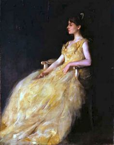 Lady In Yellow by Thomas Dewing