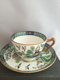 English Crown Staffordshire Fine Bone China Teacup and Saucer #CrownStaffordshire