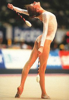 Bianka Panova, Bulgaria. One of the Golden Girls of Bulgaria that dominated rhythmic gymnastics in the 1980s, she is the 1987 World All-around champion, 1989 World All-around silver medalist, 1985 World All-around bronze medalist and 1986 European All-around gold medalist.