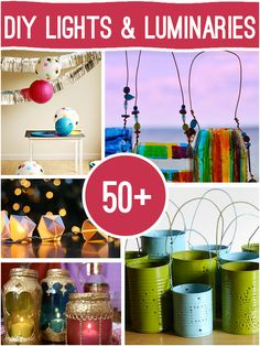 0ver 50 DIY Lights and Luminaries to Make @savedbyloves