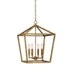 FREE SHIPPING. Visual Comfort Darlana Lantern look for less. Purchase the modern Geometric Cage Lantern in Vintage Gold for your brass lighting today at lightingconnection.com. Millennium Lighting 3244VG