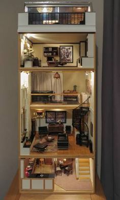 - The Notting Hill House - Gallery - The Greenleaf Miniature Community (jt-love the interior of this house - see exterior pinned alongside)