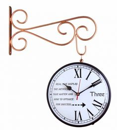 c0ced903e0a Home    Home   Furniture    Decor    Wall Decor    Wall Clocks    Double  sided London 1894 station Wall Clock