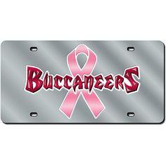 Tampa Bay Buccaneers Glitter License Plate - Black