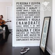 vinilos decorativos cocina - Buscar con Google Wall Quotes, Haiku, Decoration, Ideas Para, Ideas Decoración, Wall Decals, Sweet Home, New Homes, Room Decor