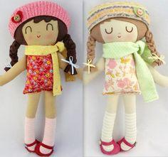 Livia... Personalizada hecha muñeca muñeca de trapo por warmsugar, $65.00