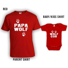 #papa #wolf and #wolfcub matching shirts for #fathersday #LifeStyleTees at: http://www.etsy.com/shop/lifestyletees #babyshower