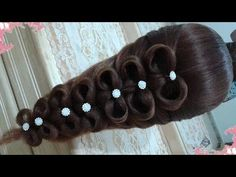 peinados recogidos faciles para cabello largo bonitos y rapidos con trenzas para niña para fiestas 9 - YouTube