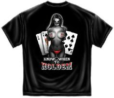 BRAND NEW Know when to holdem POKER T-SHIRT SIZE 3XL