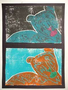 Thomas Elementary Art: 4th Grade multiple color printmaking with lesson plan