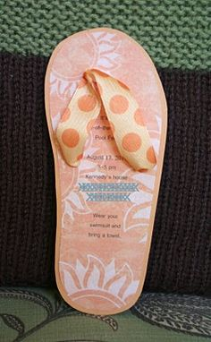 a flip flop invitation for a summer party