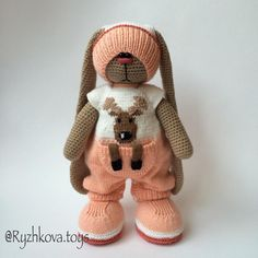 Новости Crochet Rabbit, Crochet Bunny, Crochet Dolls, Knitted Bunnies, Knitted Animals, Plastic Bag Crochet, Sewing Toys, Amigurumi Toys, Stuffed Animal Patterns