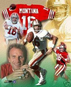 JOE MONTANA San Francisco 49ers QB LICENSED un-signed poster picture 8x10 photo