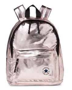 4f4201b1bf93 Converse (Girls) Metallic Rose Gold Mini Backpack Gold Backpacks