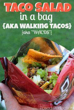 Posed Perfection: Taco Salad in a Bag {aka Walking Tacos}