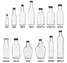 Specialty Bottle - Sauce Glass Bottles - great resource for inexpensive glass bottles or mason jars