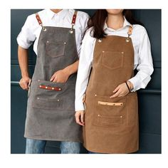 Kellner Uniform, Shop Apron, Work Aprons, Gardening Apron, Custom Aprons, Kitchen Aprons, Chef Kitchen, Apron Pockets, Barbacoa