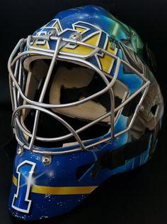 Mask worn by Stefan Liv. Star Wars theme by @Mrs Davies #RIP #stefan #liv #sweden #lokomotiv #goalie #mask
