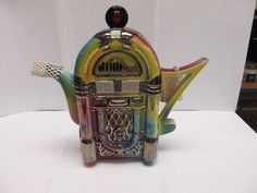 RARE COLLECTIBLE LIMITED EDITION JUKE BOX TEAPOTTERY TEAPOT - LARGE - RETIRED # #TheTeapottery