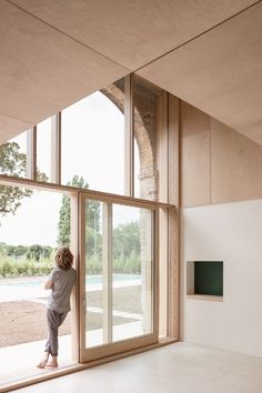 Modern Vernacular: The Austere Elegance of a Country House Outside Verona Architecture Details, Interior Architecture, Stone Facade, Timber Beams, Stone Barns, Storey Homes, Brick Fireplace, Bauhaus, Windows And Doors