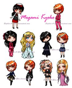 Mogami Kyoko's different characters. Love it! ❤