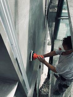 Τρίψιμο επιφάνειας προκειμένου να υποδεχθεί ακρυλικό αστάρι αδιαβροχοποίησης Plaster Primer (Kraft) Plaster, Painting, Plastering, Painting Art, Paintings, Painted Canvas, Drawings, Gypsum