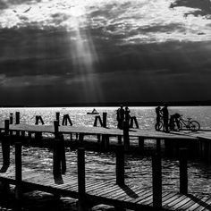 Waiting for the ferry in Podersdorf. The End, End Of The World, Black And White Photography, Street Photography, Documentaries, Waiting, Earth, Christian, Travel