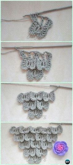 Crochet Stitch Crochet Bow Butterfly Stitch Free Pattern - Crochet Butterfly Stitch Free Patterns - 20 Crochet Butterfly Free Patterns:Attach butterfly applique onto fashion, make butterflies as Mobile nursery or chandelier, or crochet butterfly rugs. Crochet Motifs, Crochet Stitches Patterns, Tunisian Crochet, Crochet Crafts, Crochet Yarn, Crochet Projects, Free Crochet, Knitting Patterns, Crochet Bows Free Pattern