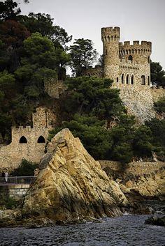 Castle Sant Joan, Lloret, Girona, Catalonia