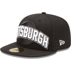 Men s New Era Pittsburgh Steelers Draft 59FIFTY® Structured Fitted Black Hat  - NFLShop.com 8d26e6c9a