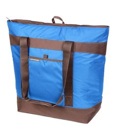 Take a look at this Blue Jumbo Chillout Thermal Tote by Rachael Ray on #zulily today!$16.99, regular 25.00 Available in many colors.