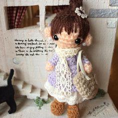 minkymayu:: 久しぶりの女の子あみぐるみ やっぱりお洋服はワンパターンσ_; ストラップにしています 委託先に納品予定です #amigurumi #crochet #doll #handcraft #handmade #あみぐるみ #ヒトガタ#girl#女の子#ナチュラル