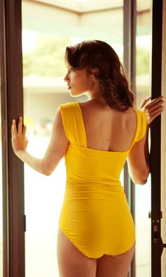 Yellow Cross Swimsuit - maybe not this colour, but I *love* the back!