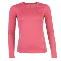 New Balance Long Sleeve Running TShirt Ladies on offer now £11 (at time of posting)  #newbalance #running #sport #tshirt #t-shirt #clothing #sportsclothing #pinksport #pink #highvissporting