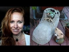 DIY recycling -  How to use a plastic bottle for production shoe of concrete - YouTube