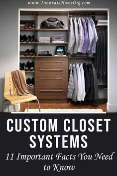 Custom Closet System. 11 important facts you need to know and 5 mistakes you should avoid! | Innovate Building Solutions | Innovate Home Org | Custom Organization | Closet Organization | Custom Storage | #CustomCloset #Organization #ColumbusClosets Custom Closet Design, Custom Closets, Closet Designs, Closet Companies, Faux Stone Panels, Diy Bathtub, Huge Closet, Glass Floor, Contemporary Homes