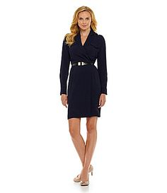 Calvin Klein Military Wrap Dress #Dillards. Perfect for work