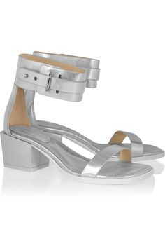 3.1 Phillip Lim | Coco metallic-leather sandals | NET-A-PORTER.COM