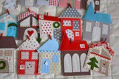 Adventný kalendár domčeky