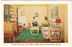 cool mid-century motel room in Ormond Beach, Florida