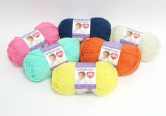 Enter to win the Red Heart Baby Hugs Yarn Bundle! One lucky winner will receive 6 skeins of Red Heart Baby Hugs Yarn (1 each in Happy, Blueberry, Sprout, Sunny, Shell, and Orangie). The deadline to enter is May 15, 2016 at 11:59:59 p.m. Eastern Time.
