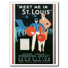 Shop Meet Me in St. Louis Vintage Travel Poster Artwork Postcard created by travelpostervintage. Personalize it with photos & text or purchase as is! Vintage Travel Posters, Vintage Postcards, Photo Postcards, Travel Wall Art, Sale Poster, Retro Art, Vintage Art, Vintage Prints, Vintage Photos