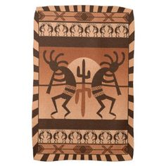 Desert Sunset Kokopelli Southwest Towel