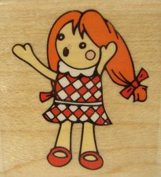 Misfit Doll Stampabilities Girl C1048 Toy Wood Mounted Rubber Stamp