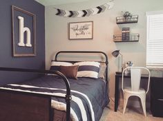 "150 Likes, 22 Comments - Dream Nest Decor (@dreamnestdecor) on Instagram: ""We just moved my son up into this great new bed from @ashleyhomestore With some new wall…"""