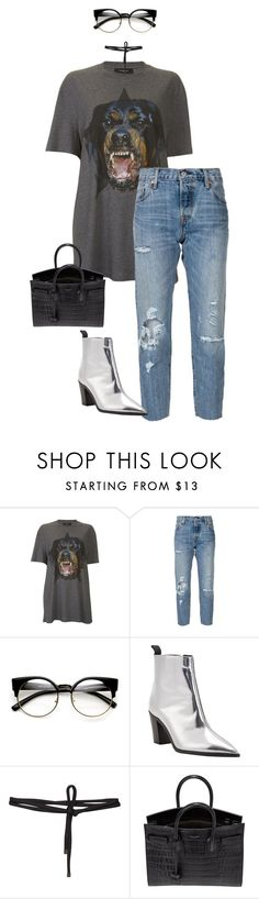 """""""Untitled #202"""" by aishaalvarez-1 ❤ liked on Polyvore featuring Givenchy, Levi's, ZeroUV, Acne Studios, Beaufille and Yves Saint Laurent"""