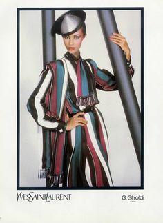 Yves Saint-Laurent (Couture) 1982 Helmut Newton, G. 70s Women Fashion, Fashion History, World Of Fashion, Fashion Models, Yves Saint Laurent, Vintage Ysl, Vintage Fashion, Helmut Newton, French Fashion Designers
