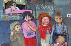 members of the Samson family, Joan Eardley painting her neighbors in an urban environment Paintings I Love, Sculpture, Art Plastique, Figure Painting, Figurative Art, Art Blog, Street Art, Illustration Art, Fine Art