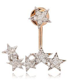 Kismet Rose Gold Double Row Star Earring |
