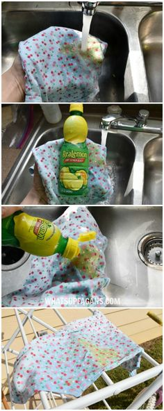baby hacks DIY green free laundry stain removal method for baby poop stains - use the sun and a little lemon juice (if needed). The results are impressive! Baby Outfits, Baby Boys, Bag Essentials, Everything Baby, Baby Needs, Baby Time, Cloth Diapers, Cleaning Hacks, Deep Cleaning